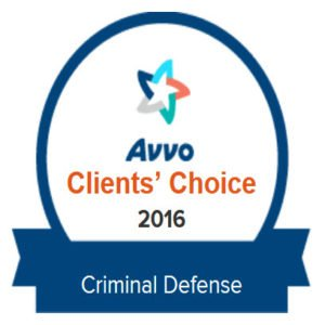 Joel Leppard Avvo Clients Choice Award 2016 in Criminal Defense