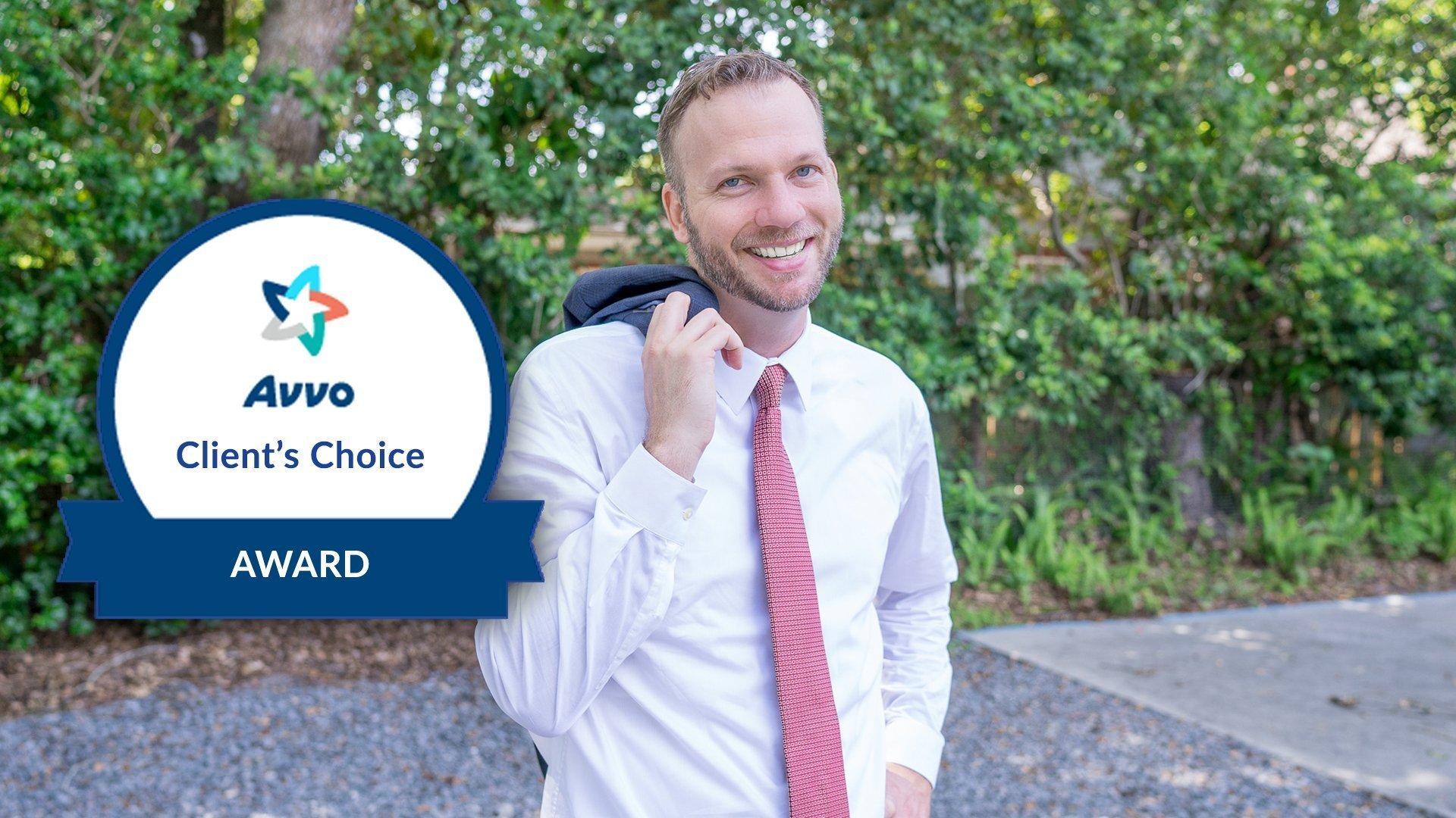 Joel Leppard, winner of Avvo Client Choice Award